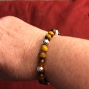 Jewelry - Silver and tigers eye bracelet
